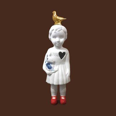 Pupke met duif 20 cm