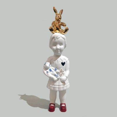 Pupke beer en gouden konijn 28 cm