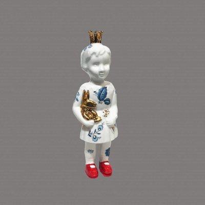 Pupke mini met kroon 14 cm