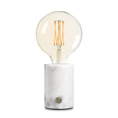 EDGAR - ORBIS Lamp white marble